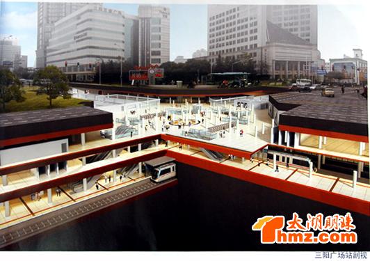 无锡城市轨道三阳广场站规划图-无锡轨道交通1号线计划2014年通车 图片