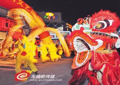 无锡民间艺术家舞狮舞龙