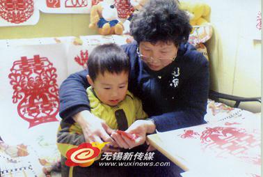 儿童剪纸贴画章鱼